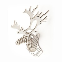 Deer Head mini_white